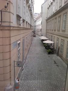 Blick aus Mozarts ehemaliger Wohnung