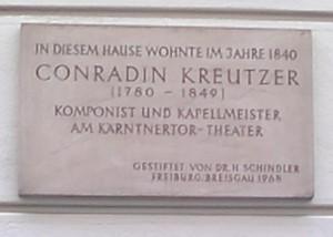 Gedenktafel für Conradin Kreutzer