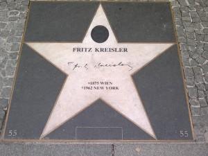 Gedenkstein für Fritz Kreisler, Wien