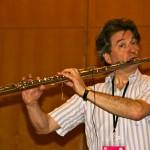 Matthias Ziegler beim Soundcheck