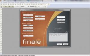 Screenhot Eröffnungsbildschirm Finale